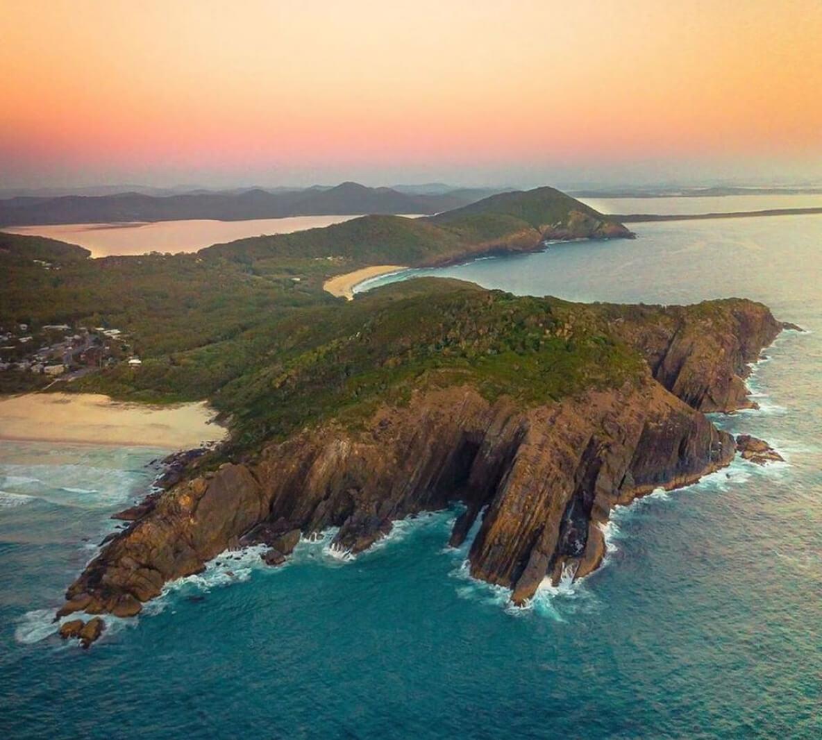 Rocky Point Jutting into Ocean