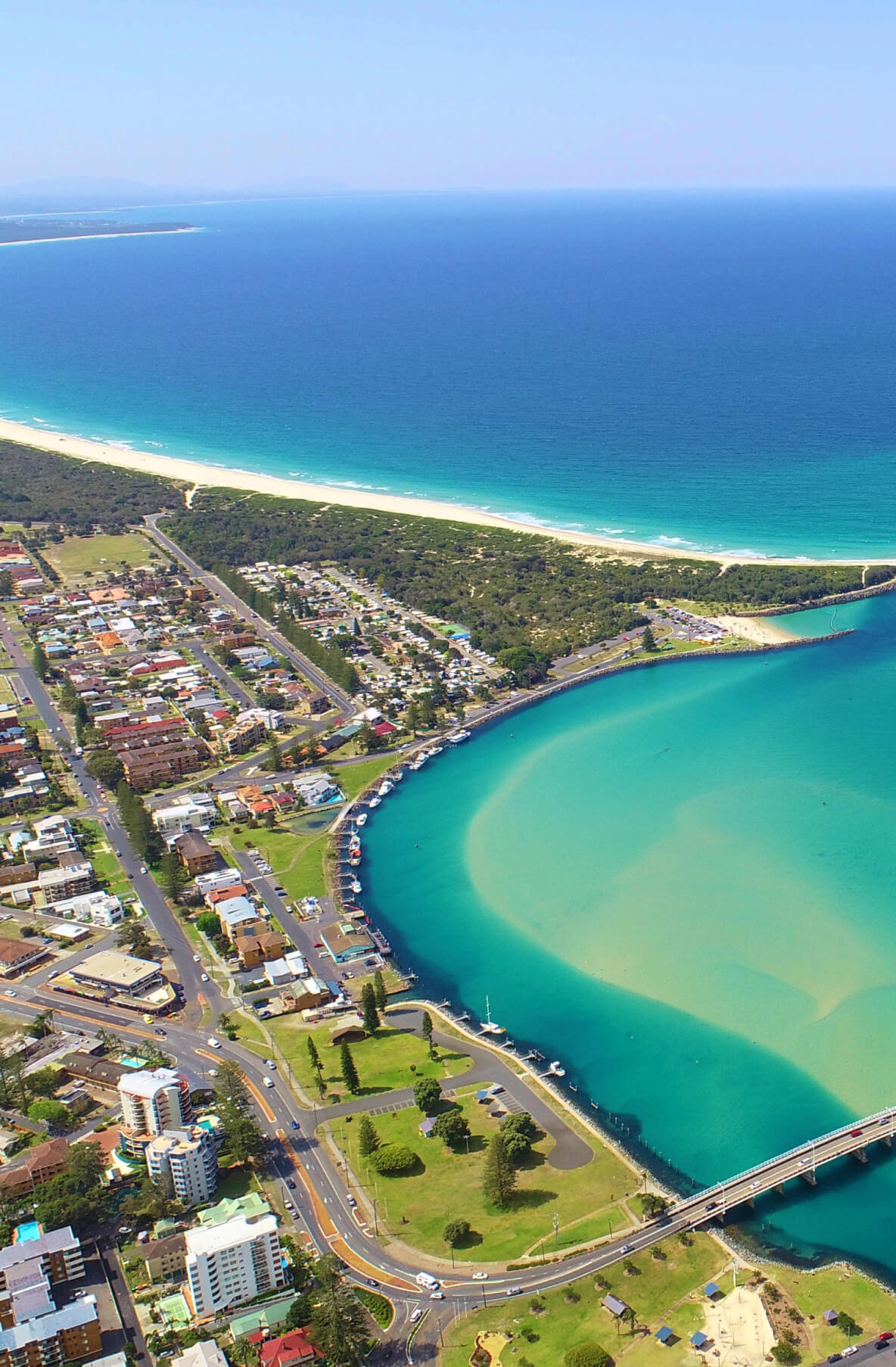 Aerial View of Forster Bay